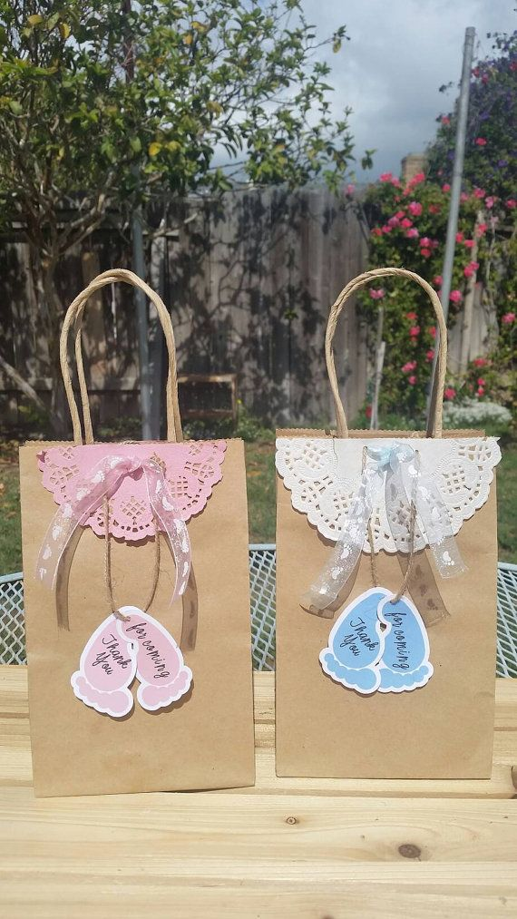 Babyshower Gift Bags Baby Shower Thank You Tags Babyshower Gender