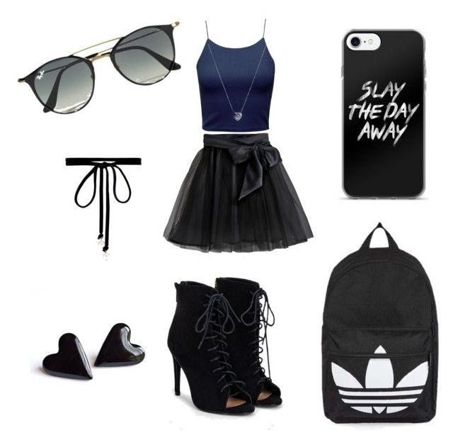 """bored"" by leamarievela ❤ liked on Polyvore featuring Little Wardrobe London, Topshop, Ray-Ban, Joomi Lim, Links of London and JustFab"