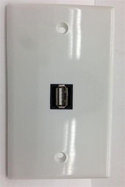 10 65 Usb A 2 0 Custom White Wall Plate Female Female Face Plate 1 Port Black Jack Ebay Electronics Plates On Wall White Walls Custom Wall