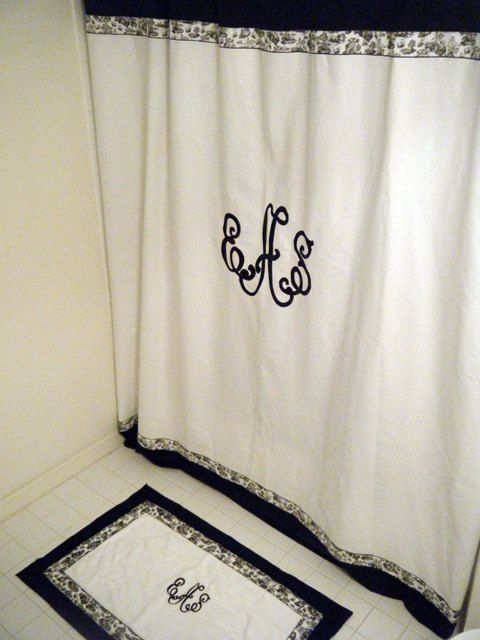 I So Need This For My Bathroom Monogrammed Shower Curtain By
