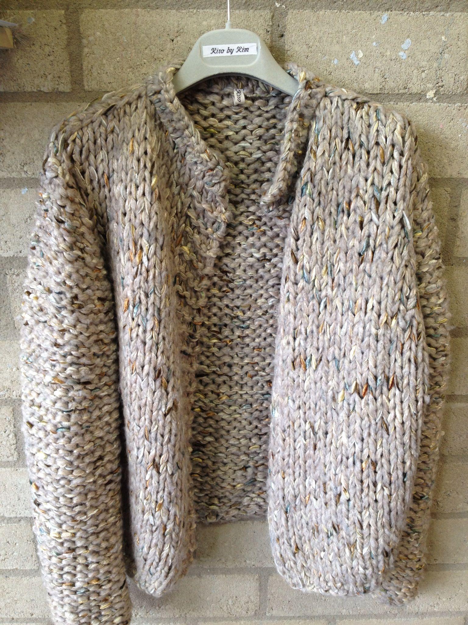 Short handknitted kiro by kim cardigan kiro by kim chunky crochet clothes bankloansurffo Choice Image