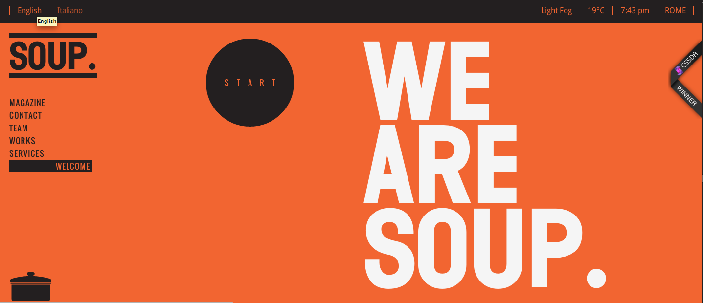 Black Orange Websites Soup Web Design Typography Web Design Website Design Inspiration