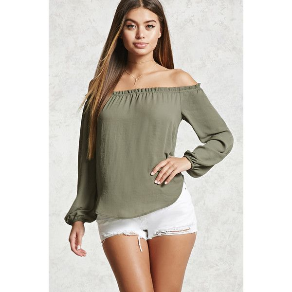 Forever21 Ruffle Off The Shoulder Top 13 Liked On Polyvore