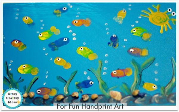 Fingerprint fish aquarium craft more aquarium craft and for Fish art and craft
