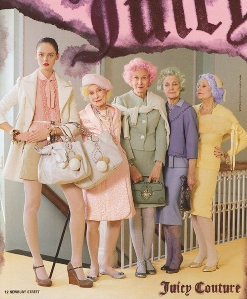 Juicy Couture Pastel Grannies by presleyjones