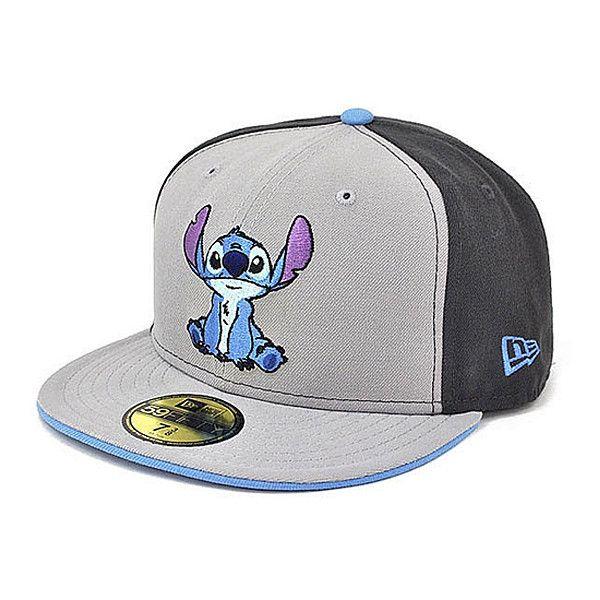 DISNEY x NEW ERA「Stitch」59Fifty Fitted Baseball Cap ❤ liked on ...