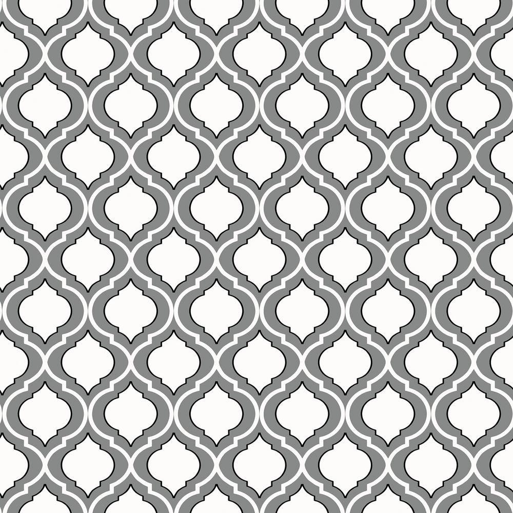 Quatrefoil Peel And Stick Wallpaper Sample Grey