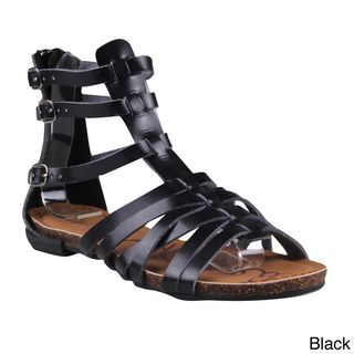 Refresh Women's 'Lisa-04' Buckled Cage Gladiator Sandals | Overstock.com Shopping - Great Deals on Refresh Sandals