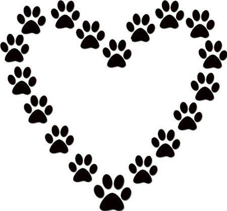 amazon com dog paw print heart dog lover black vinyl wall decal rh pinterest com au Dog Paw Print Logo Cool Dog Clip Art