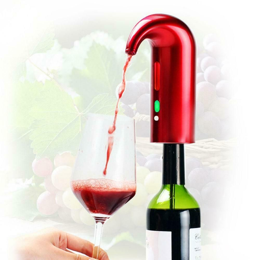 Portable Smart Electric Wine Decanter Automatic Red Wine Pourer Aerator Decanter Smart In 2020 Wine Aerator Pourer Wine Aerators Wine Dispenser