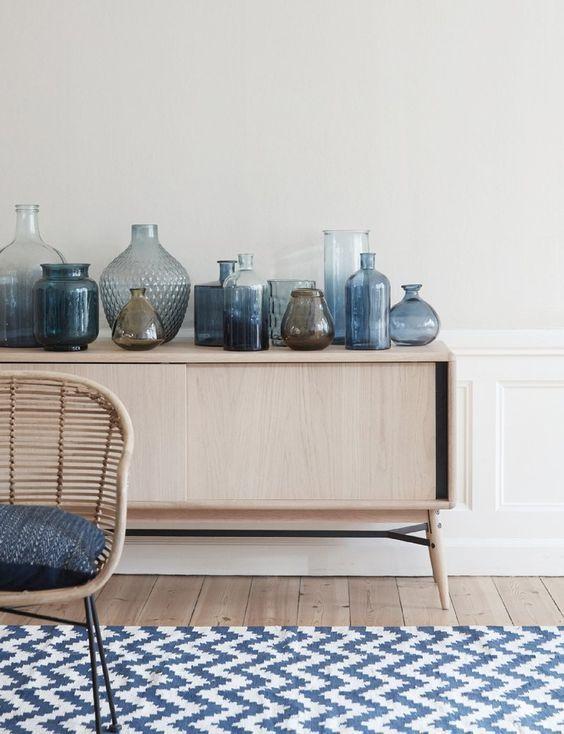 Pin von Juli auf Interieur Pinterest Wohnzimmer, Glas und Wohnen - wohnzimmer deko blau