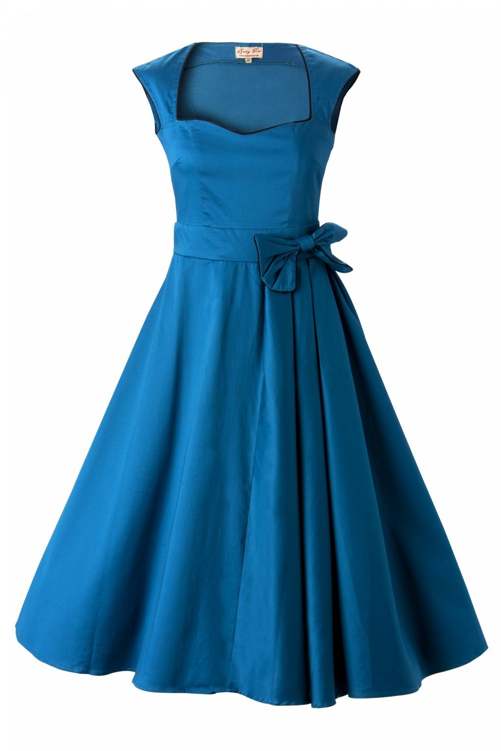 Us grace blue bow vintage style swing party rockabilly e