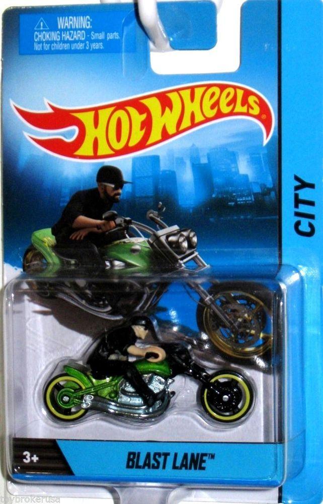 Blast Lane Motorcycle 2014 Hot Wheels Motorcycle Series Wremovable