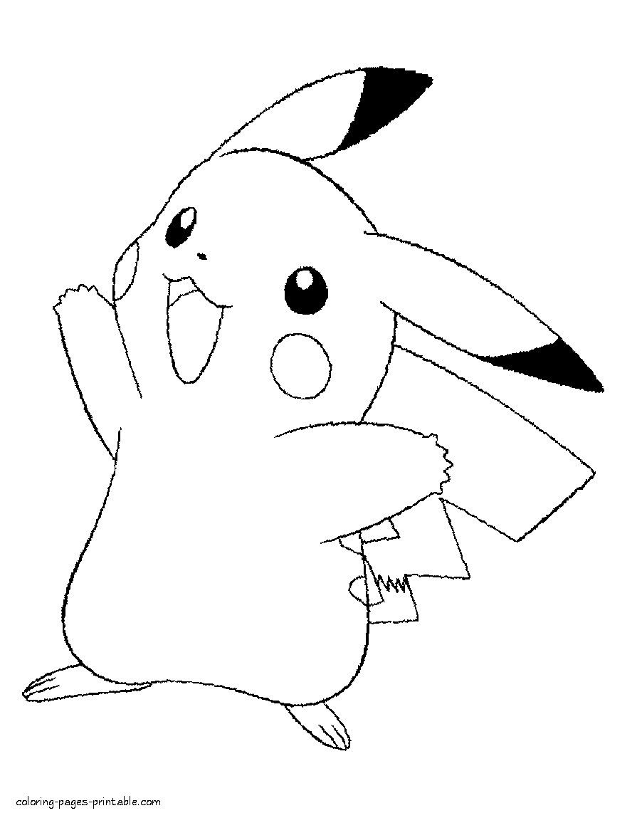 Pokemon Coloring Page Pikachu Youngandtae Com Pikachu Coloring Page Cartoon Coloring Pages Pokemon Coloring