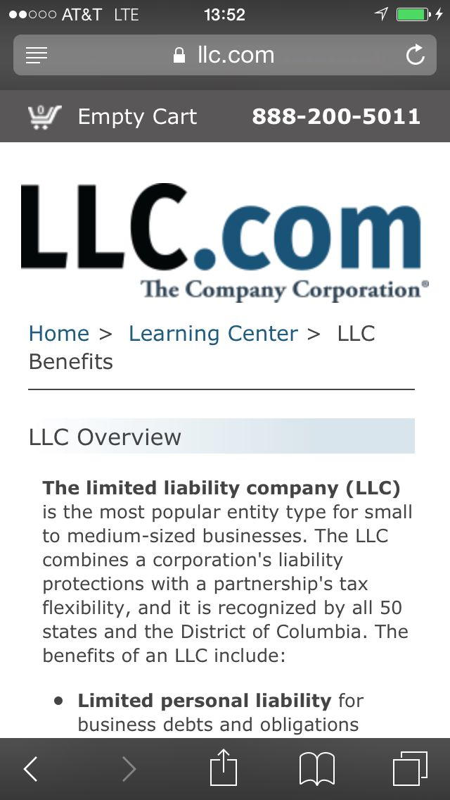 More information about the benefits of forming an LLC BUAD 210