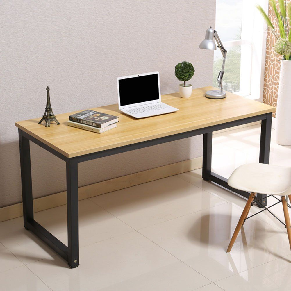 Modern Computer Desk 55 Large Simple Style Pc Laptop Sturdy Table
