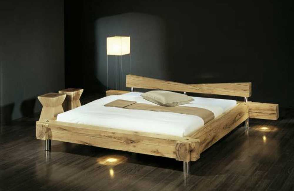 abbildung balken bett gezinkt gr e 180x200 cm in holzvariante sumpfeiche massiv rissig mit. Black Bedroom Furniture Sets. Home Design Ideas