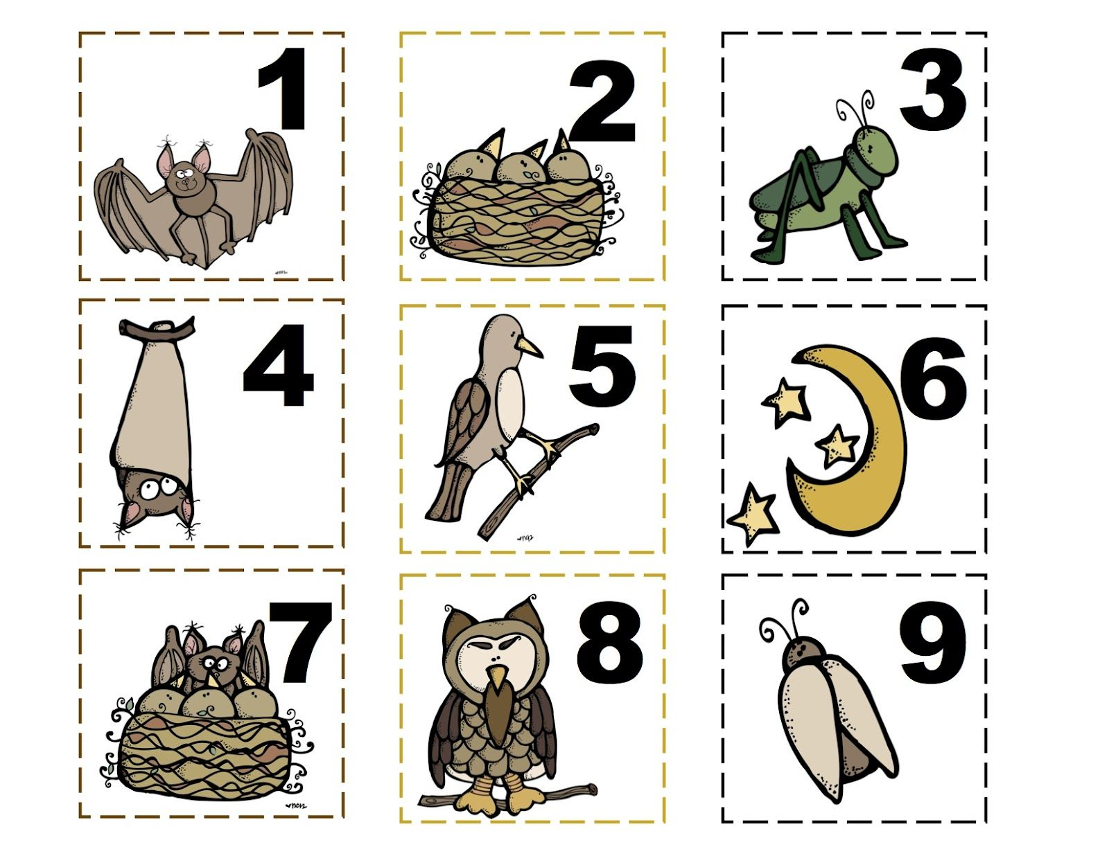 Stellaluna Number Cards Or Calendar Preschool