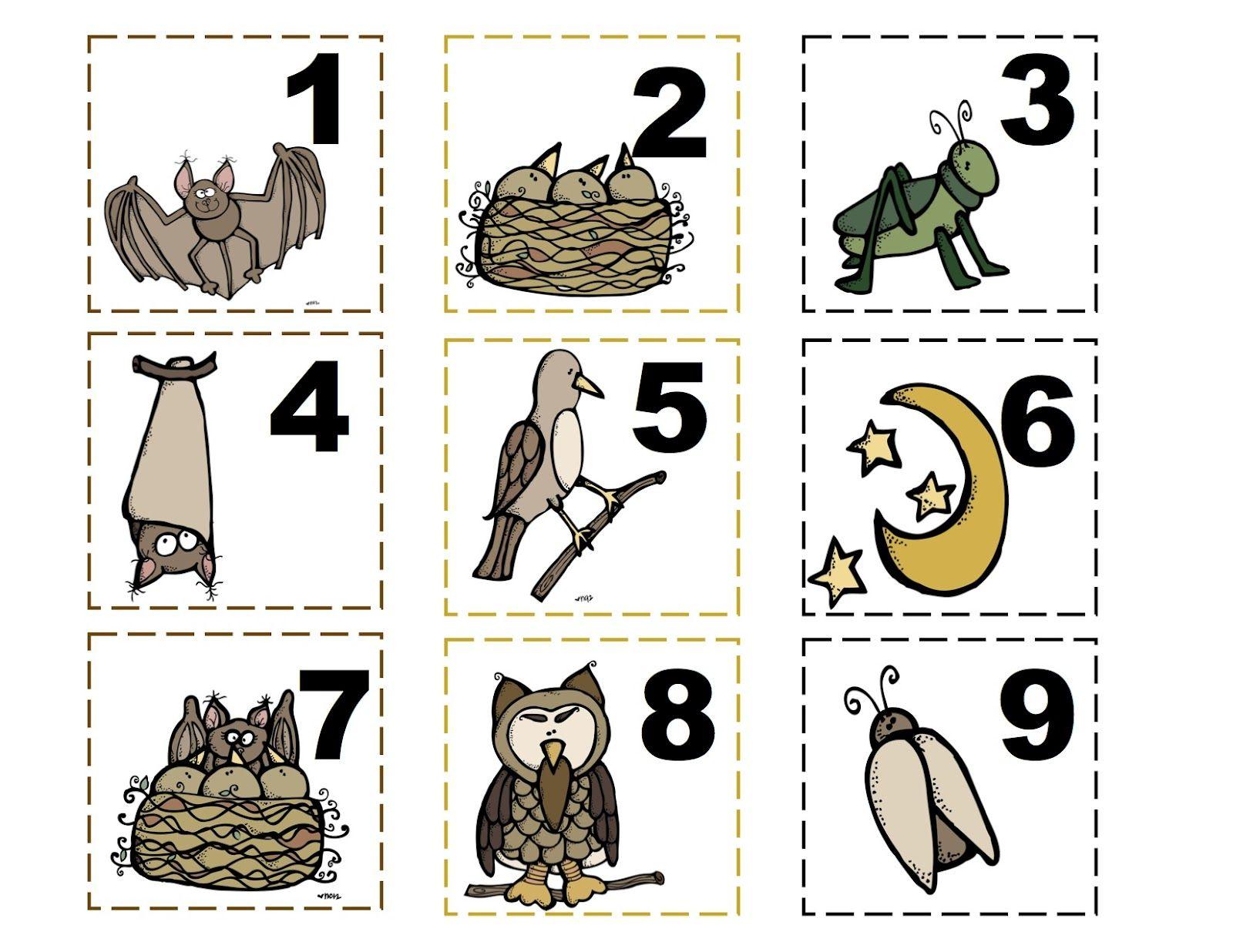 Stellaluna Number Cards Or Calendar Preschool
