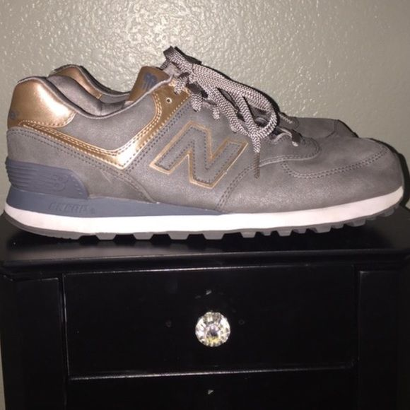 8ca628aa5ce5 Limited edition rose gold leather New Balance Sz 9 New balance limited  edition sneakers rose gold   grey leather barely worn like new size 9 New  Balance ...