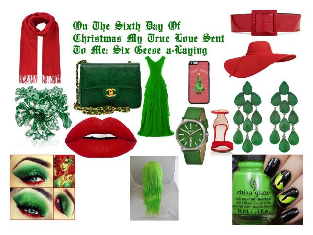 """""""Sixth Day Of Christmas"""" by fallen-wolf on Polyvore featuring Barneys New York, Chanel, Yves Saint Laurent, Vivienne Westwood, Siman Tu, Neha Dani and Simplify"""