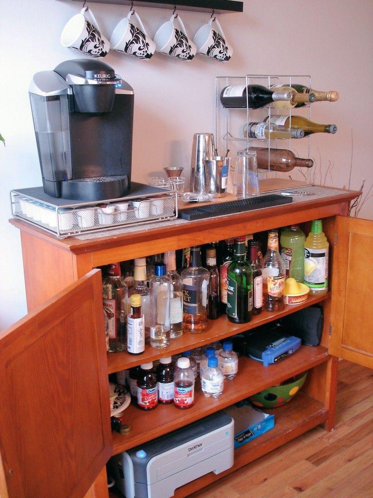 Fantastic Organizational Skills Thanks For The Inspiration Custom Home Bars Coffee Bar Home Home Bar Setup