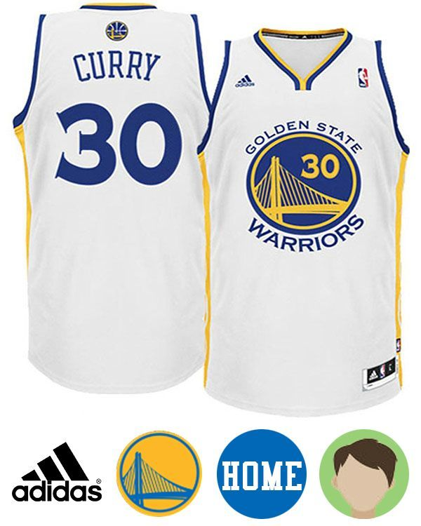 41e85cebe Shop for Kids' Adidas Golden State Warriors #30 Stephen Curry White  Revolution 30 Swingman Home Jersey and be ready to celebrate your team to  another win in ...