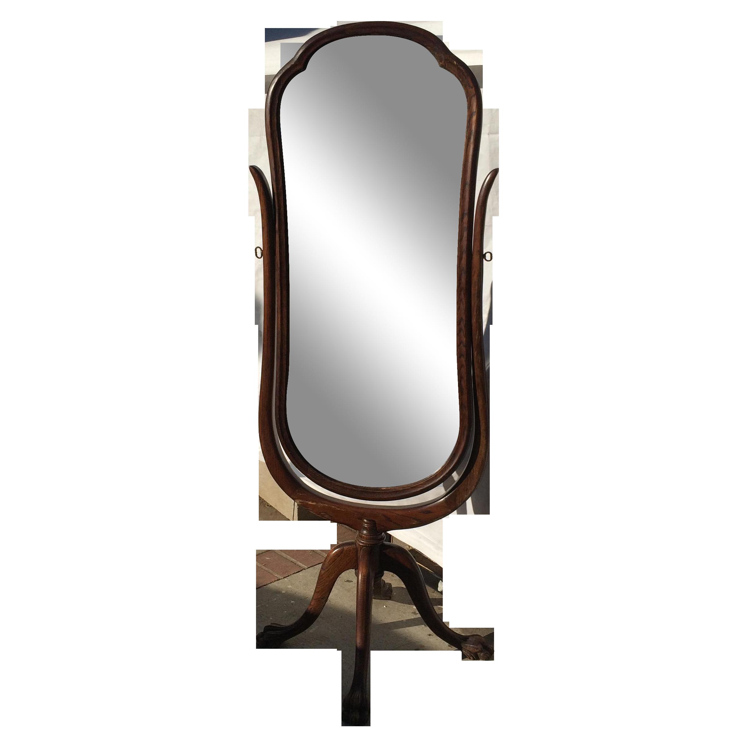Antique Cheval Floor Standing Mirror on Chairish.com | Shabby Chic ...