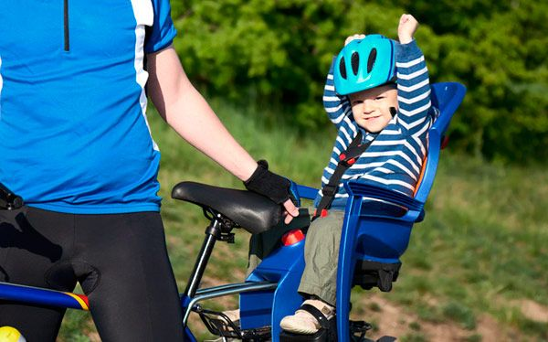 Bike Back Seat Kids On Bike And Bike Child Seats Pinterest