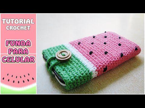 Cómo Hacer Una Funda Para El Celular A Crochet Paso A Paso Fundas De Ganchillo Funda Para Celular Crochet Móvil De Ganchillo