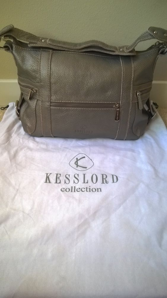 Kesslord Collection From Paris Silver Leather Handbag This Now For Only 45