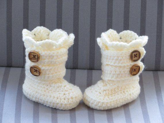 Patrón botas de crochet Crochet botines por CrochetBabyBoutique ...