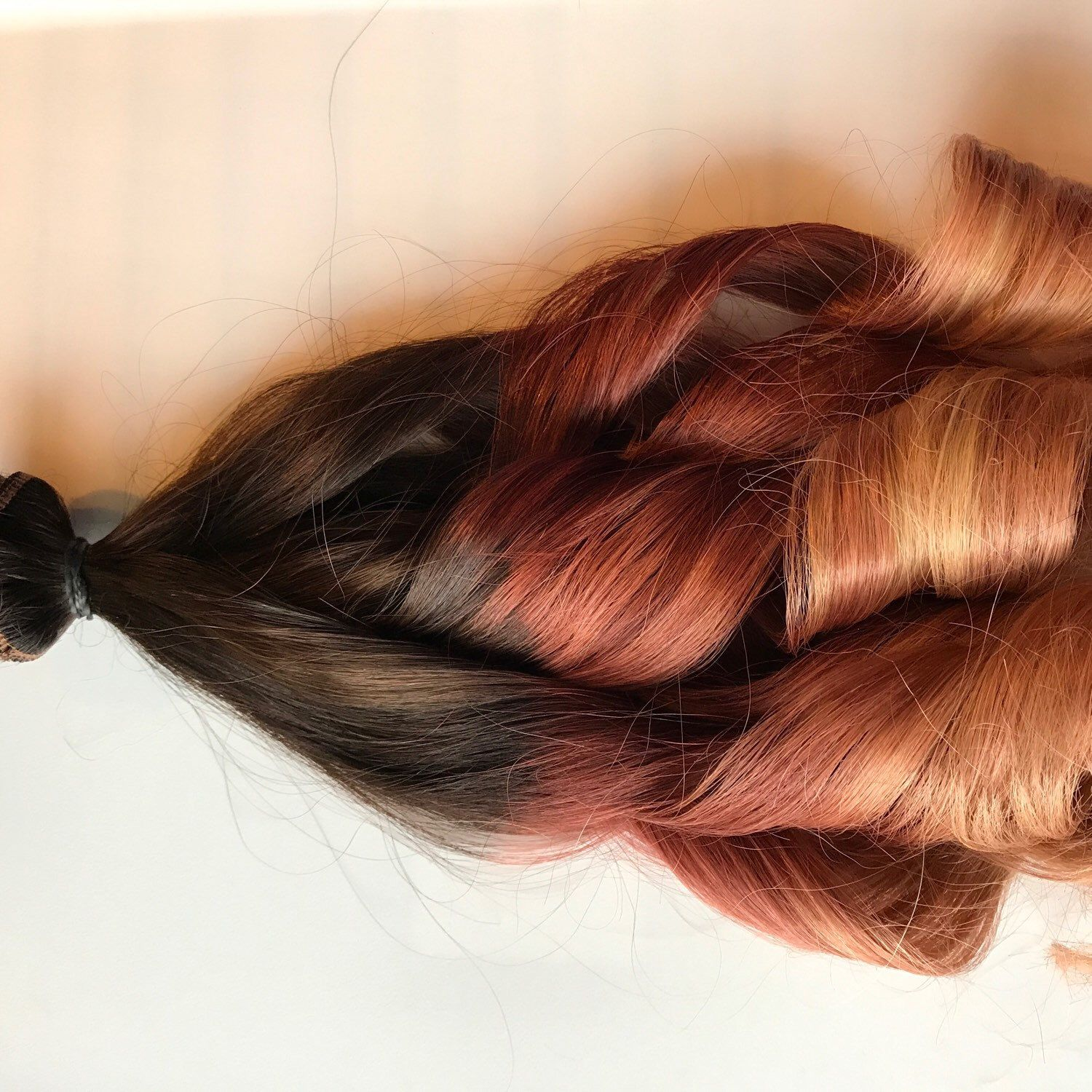 Custom Ombr Clip In Human Hair Extensions Ombre Clip Fade Clip In