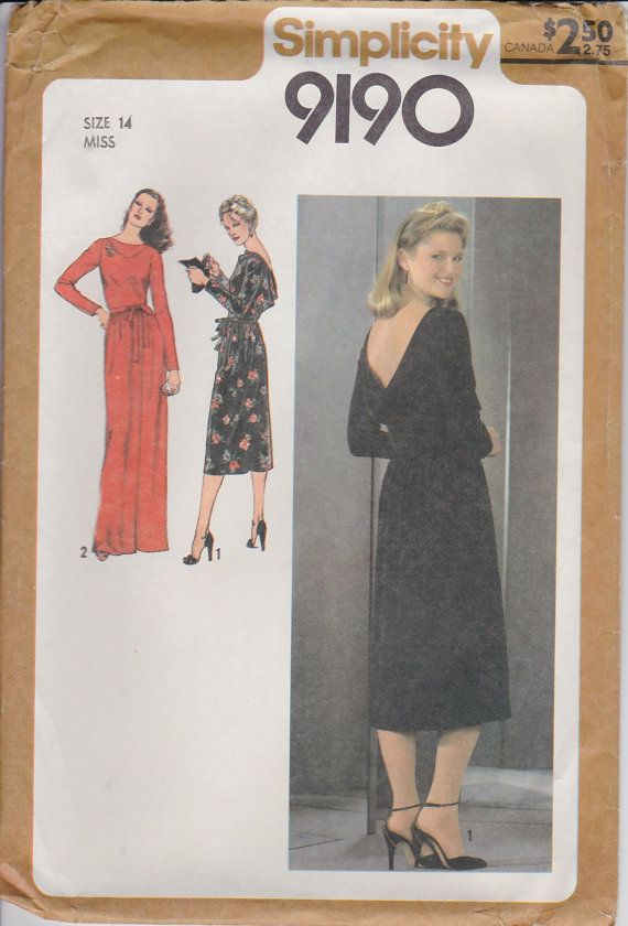 70s Maxi Dress Sewing Pattern Cowl Neck Dress by SissysPatterns ...