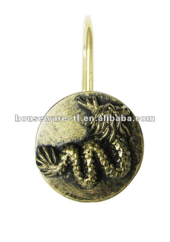 Elegent Design.golden Dragon Resin Shower Curtain Hooks - Buy ...
