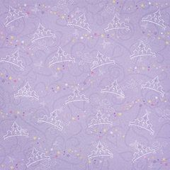 Creative Imaginations - Fairytale Collection - 12 x 12 Glitter Paper - Crown
