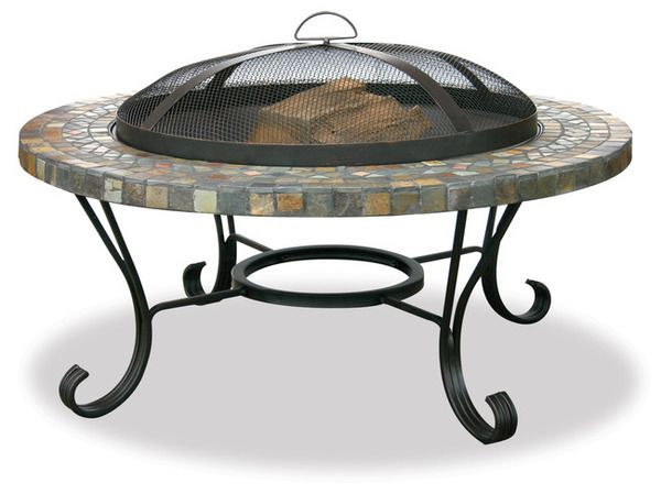 Uniflame Slate Tile and Copper Firebowl Fire Pit