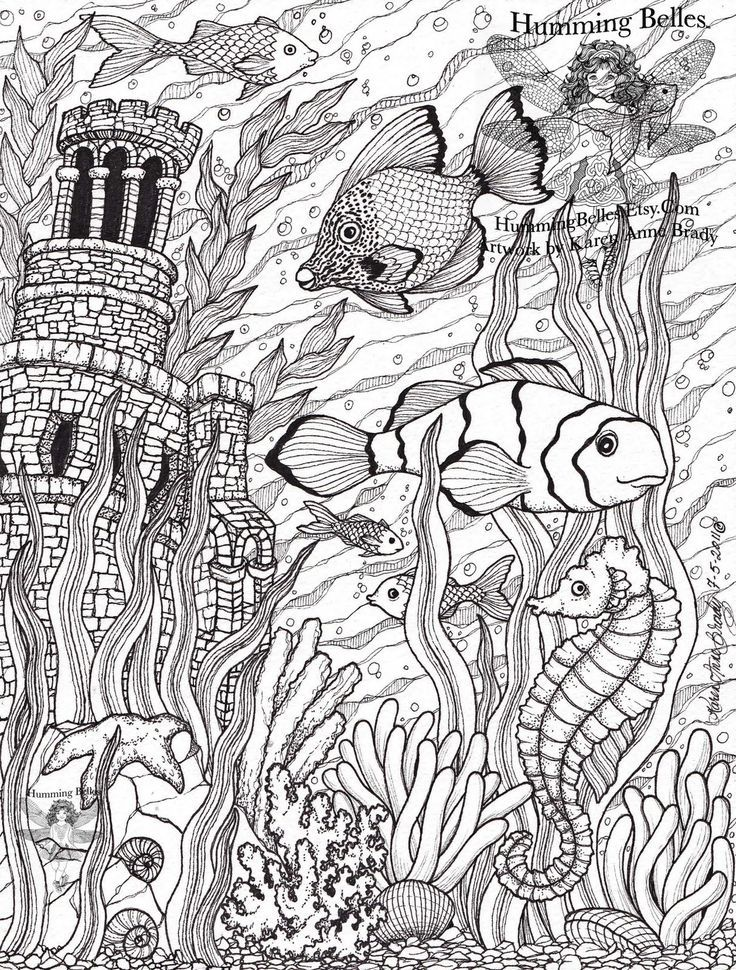 sea life coloring pages for adults - Google Search | Coloring pages ...