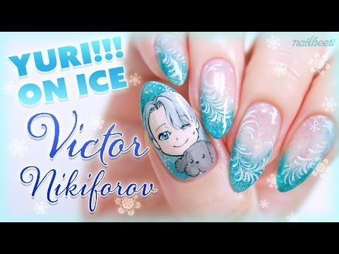 yuri on ice victor inspired nail art youtube httpswww yuri on ice victor inspired nail art youtube https prinsesfo Image collections