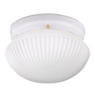 Darby Home Co Bustamante 1 Light Flush Mount Finish: White