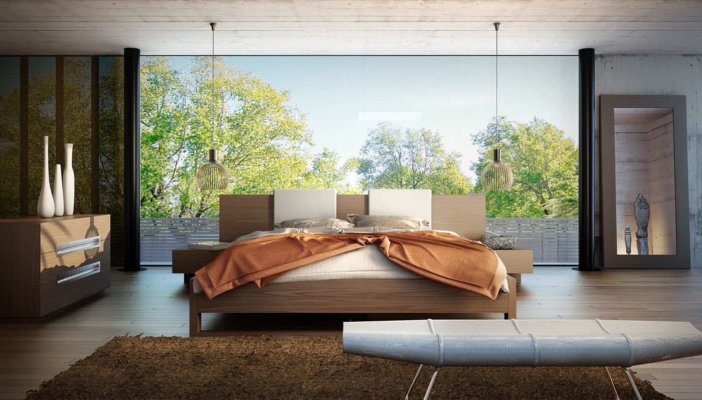 The Monroe platform bed is perfect for creating a look of Zen in your  bedroom retreat