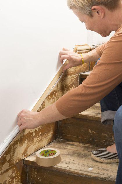 Repeindre un escalier pour le relooker  conseils et étapes à suivre - peinture beton cire mur