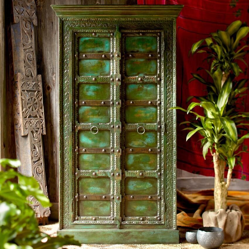 Mahala Wooden Cabinet ~ Hand Crafted By Artisans In India Via Www. Worldmarket.