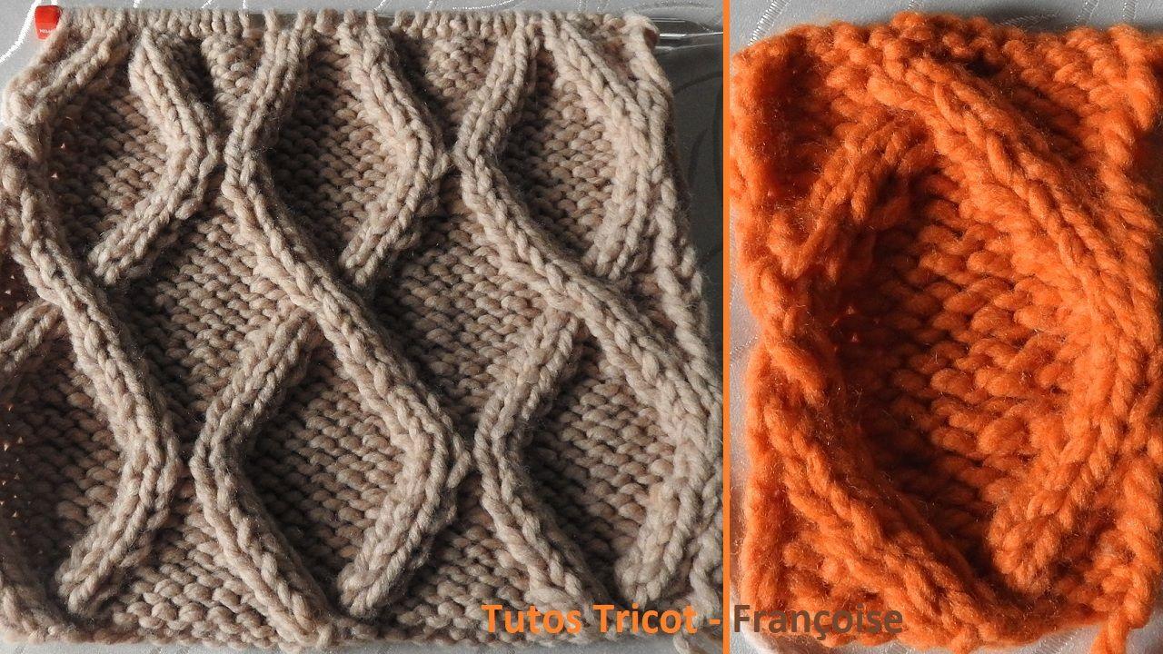 8c8d85eebad3 Tuto tricot point Losange torsadé   Comment tricoter une Torsade Losange  sur 13 mailles   18