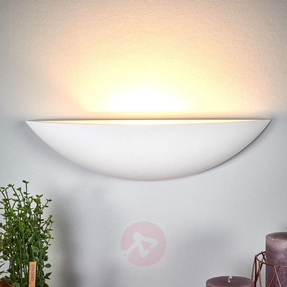 Schalenformige Gips Wandlampe Guilia In 2020 Wandlampe Lampen Leuchtstoffrohre