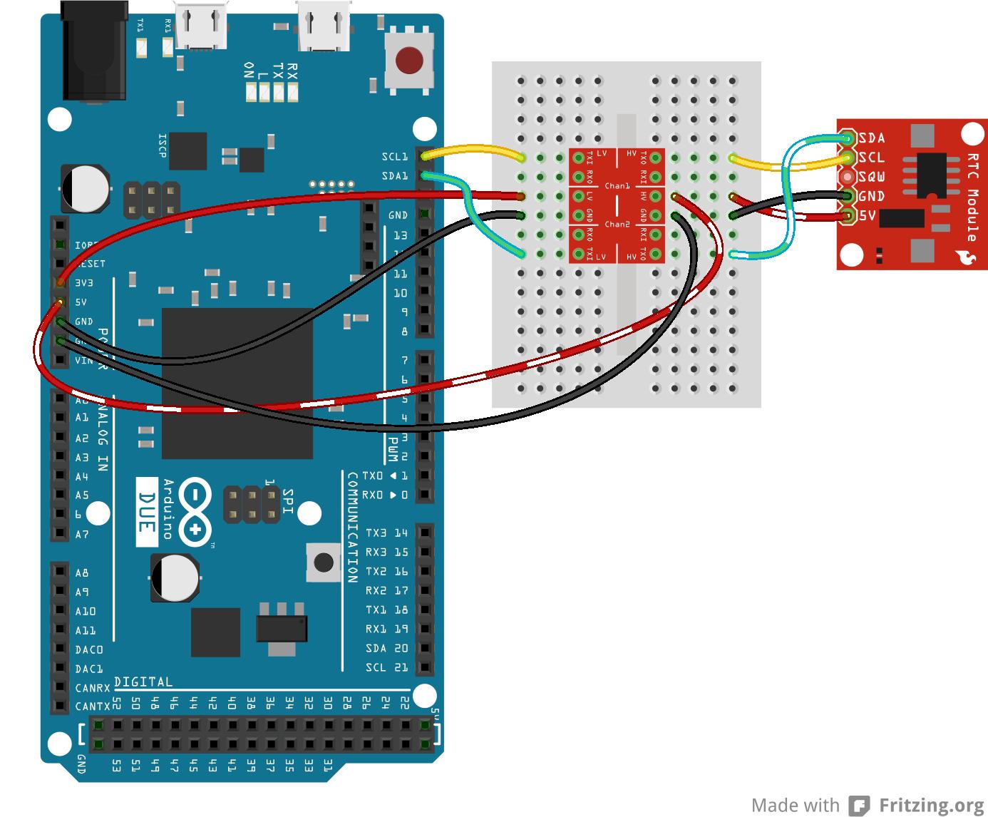 I2C hookup fritzing diagram | arduino stuff