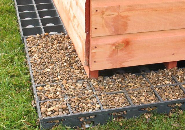 French Drain For Garden Sheds Shed Base Storage Shed Organization Shed Base Kit