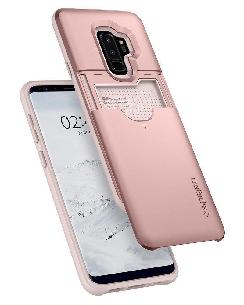 Spigen Slim Armor Cs Wallet Phone Case For Samsung Galaxy S9 Plus Note 9 Crystal Original Clear