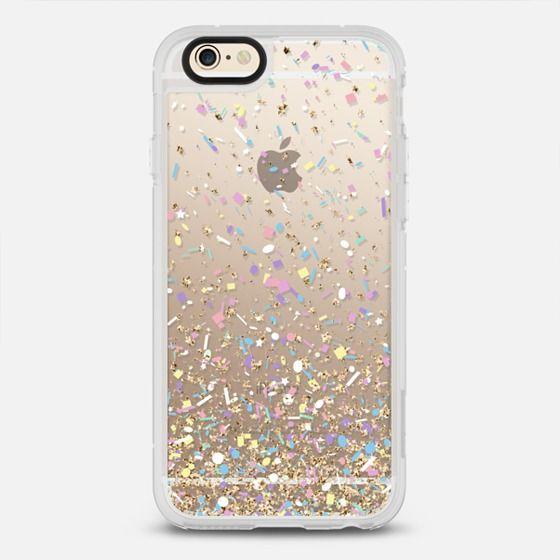 Gold Multicolor Pastel Confetti Transparent  - New Standard Case