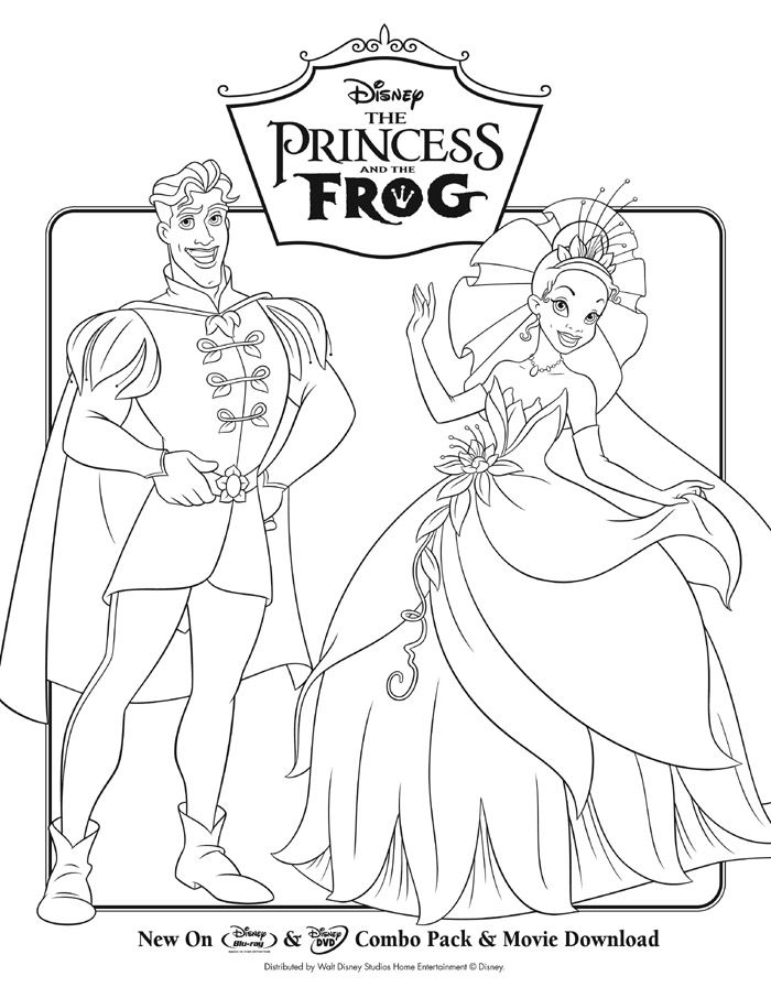 the princess and the frog activity coloring sheet 4 - Frog Prince Coloring Page